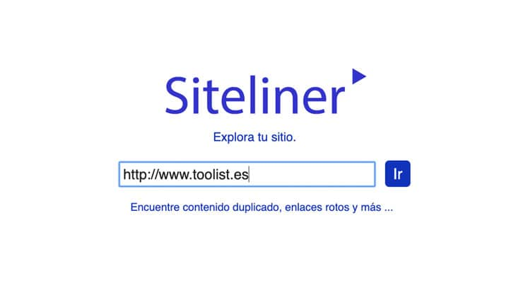 Siteliner pantalla inicial